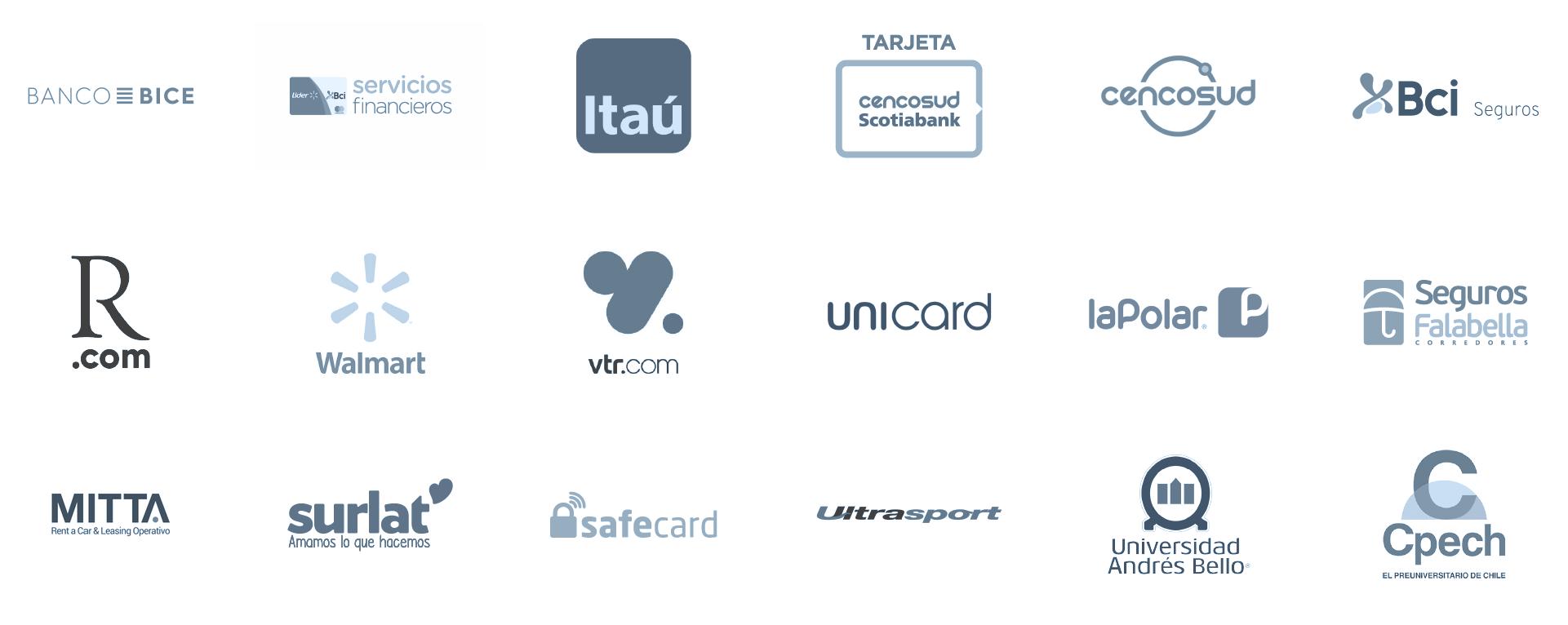Logos de las empresas que han trabajado confiado en nosotros